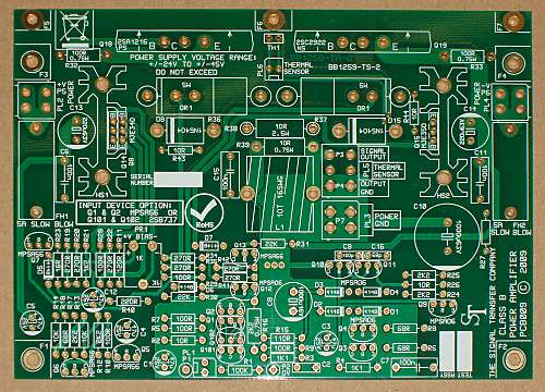 Compact Blameless Power Amplifier PCB